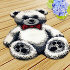 Large Latch Hook Rug Kits for Adult Handmade Cute Animal Bear Cushion Making