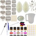 Eco Soy Candle Making Kit 14 - Beginner Set In Tins Sweet Fragrance & Colour