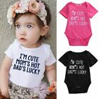 Fashion Unisex Summer Cotton Bodysuit Letter Print Baby Clothes Sunsuit Outfits