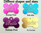 Deep engraved Personalised Pet Identity Tag, Small,Medium,Large,Tags Great Price