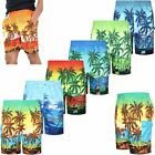 MENS HAWAIIAN SWIMMING TRUNKS BOARD SHORTS MESH TROPICAL BEACH HOLIDAY SURFING