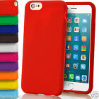 Matte Plain Gel Rubber Silicone Case Grip Cover For Apple iPhone 6 Plus 5 4