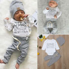 UK Newborn Infant Baby Boy Little Brother s Romper Pants Trousers Outfit Clothes