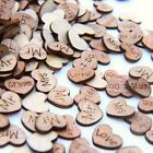 Wedding Table Decorations | Rustic Small Wooden Hearts | Confetti Love Decor