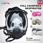 Full Face Facepiece 3M 6800 Emergency Gas Mask Respirator Painting With Filter