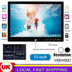 "15"" Digital Photo Frame MP4 TFT Movie LED Picture Video Player + Remote UK Plug"