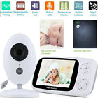 """3.5"""" LCD Baby Monitor Wireless HD Video IR Night Vision Cameras Security 2.4GHz"""