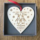 Personalised Our 1st First Christmas Mr & Mrs Married Decoration Wedding Gifts