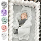 3M Baby Infant Plush Crib Bumper Bed Bedding Cot Braid Pillow Pad Protector