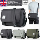 14inch Canvas Computer Briefcase Mens Travel Office Business Messenger Bags UK