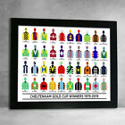 Horse Racing Cheltenham Gold Cup Winners 79-19 Racing Colours Framed Print
