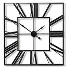 LARGE OUTDOOR GARDEN WALL CLOCK BIG ROMAN NUMERALS GIANT OPEN FACE METAL SQUARE