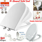 Luxury Soft Close Toilet Seat D Shape/ Family Child Friendly & Top Fixing Hinges