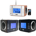 Clock Radio with MP3 USB and SD or FM Station Alarm -  August MB300