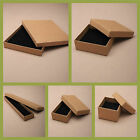NATURAL BROWN JEWELLERY GIFT BOX RING NECKLACE BRACELET EARRINGS SMALL PRESENT