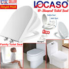 LOCASO Soft Close Toilet Seat D Shape/ Family Child Friendly & Top Fixing Hinges