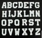 White Letter Patch Patches Iron on / Sew on Retro Alphabet Embroidery Clothes