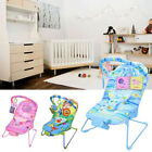 Baby Rocker Bouncer Reclining Chair Soothing Music Vibration Toys New Designs UK