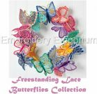 FREESTANDING LACE BUTTERFLIES COLLECTION -MACHINE EMBROIDERY DESIGNS ON CD / USB